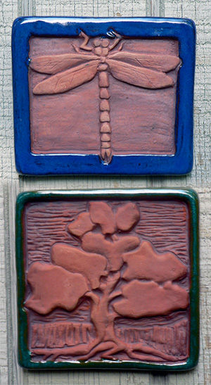 Handcrafted Clay Tiles by Bruce Weiner